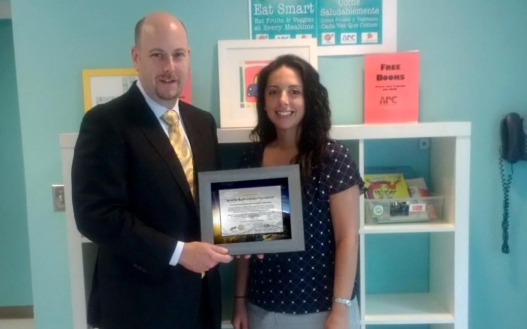 Award to the Jennifer Bush-Lawson Foundation
